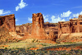 Sheep Rock Tower of Babel Rock Formations Canyon Arches National — Stock Photo
