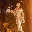 Neptune Statue Fountain Night Madrid Spain — Stock Photo #50441557