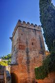 Alhambra Castle Tower Granada Andalusia Spain — Photo