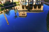 Alhambra Courtyard El Partal Pool Reflection Granada Andalusia S — Photo