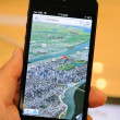 Royalty-Free Stock Photo: 3D views map in iPhone 5