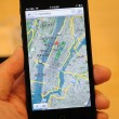 Map function in iPhone 5 — Stock Photo