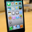 Close up of black iPhone 5 — Stock Photo