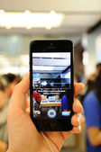 全景中的 iphone 5 的新功能 — 图库照片