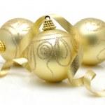 Golden christmas balls — Stock Photo #8872760