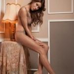 Sexy girl on a stylish background — Stock Photo #13813678