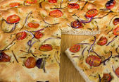 A Slice of Foccacia — Stock Photo