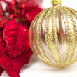 Stock Photo: Red and Gold Christmas