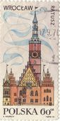 "Postage stamp ""WROCLAW"" — Stock Photo"