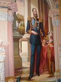 Wall image of the Russian Emperor Alexander III — Stock Photo