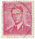 Belgian stamp — Stock Photo