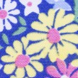 Blue floral fabric texture - Stock Photo