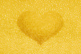 Golden crystal heart — Stock Photo