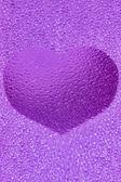 Frozen violet heart — Stock Photo
