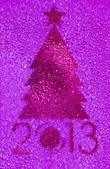 Christmas tree crystal magenta background — Stock Photo