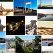 Royalty-Free Stock Photo: Multishot collage of of Budapest bridges