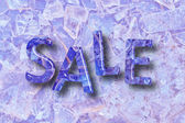 Crystal SALE word on crystal background — Stock Photo