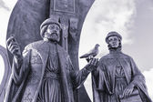 Yekaterinburg, Monument to the russian orthodox saints Peter and — Stock Photo