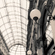Shopping art gallery in Milan, Italy - Stock Photo