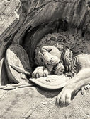 Dying lion monument in Lucerne — Stock Photo