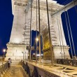 Budapest Chain Bridge Pillar, Hungary. — Stock Photo #27428939