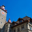 Town Hall clock tower in Lucerne — Stock Photo #28154289