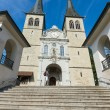 Hofkirche cathedral, Lucerne, Switzerland — Stock Photo