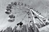 Cabins of abandoned Ferris wheel, Pervouralsk, Urals, Russia — ストック写真