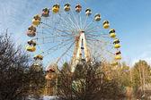 Wasteland with abandoned Ferris wheel, Pervouralsk, Urals, Russi — Stock Photo