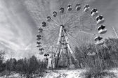 Wasteland with abandoned Ferris wheel, Pervouralsk, Urals, Russi — Foto de Stock