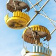 Cabins of abandoned Ferris wheel, Pervouralsk, Urals, Russia — Stock Photo