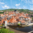 Panorama of the historical part of Cesky Krumlov with Castle and — Stock Photo #37324051