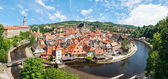 Panorama of the historical part of Cesky Krumlov with Castle and — Stock Photo