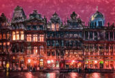 Haunted houses of Brussels — Stock Photo