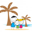 Children beach party — Stock Vector