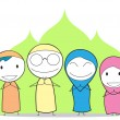 Muslim Family — Stock Vector