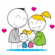 Happy Family — Stock Vector #12155169