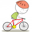 Stock Vector: Bicycle kid