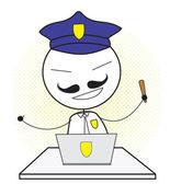 Police computer — Stock Vector