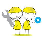 Engineer group — Stock Vector
