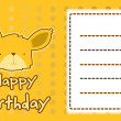 Royalty-Free Stock Vector Image: Birthday card with illustration cute fox