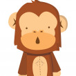 Monkey vector — Stock Vector