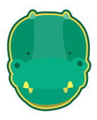 Crocodile vector — Stock Vector