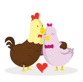 Rooster love — Stock Vector