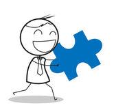 Businessman jigsaw — Stock Vector