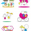 Stock Vector: Lovely couple set