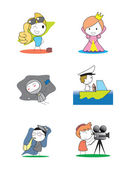 Kids Profession set — Stock Vector