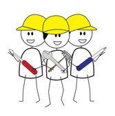 Trabalhador da construção civil — Vetor de Stock
