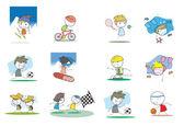 Kinder aktivitäten — Stockvektor
