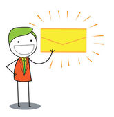Man mail — Stock Vector